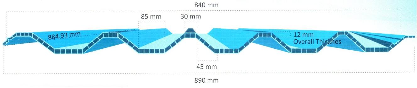 Hasil gambar untuk spesifikasi atap upvc aman roof